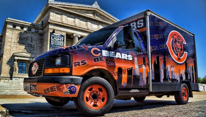 Chicago Bears Promotion Truck