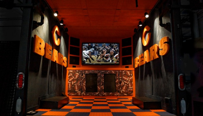 Chicago Bears Tailgating Truck Inside