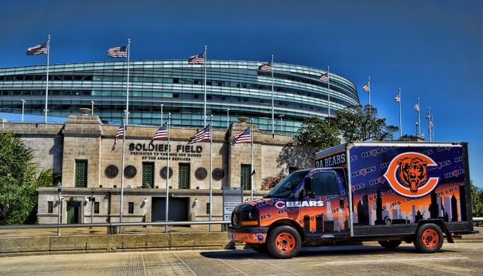Chicago Bears Tailgating Truck Soldier Field