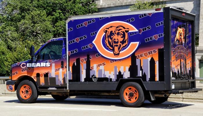 Chicago Bears Uhaul Truck
