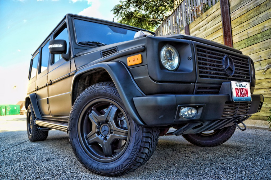 Matte black g wagon mercedes g55 amg black powder for Mercedes benz g wagon black matte