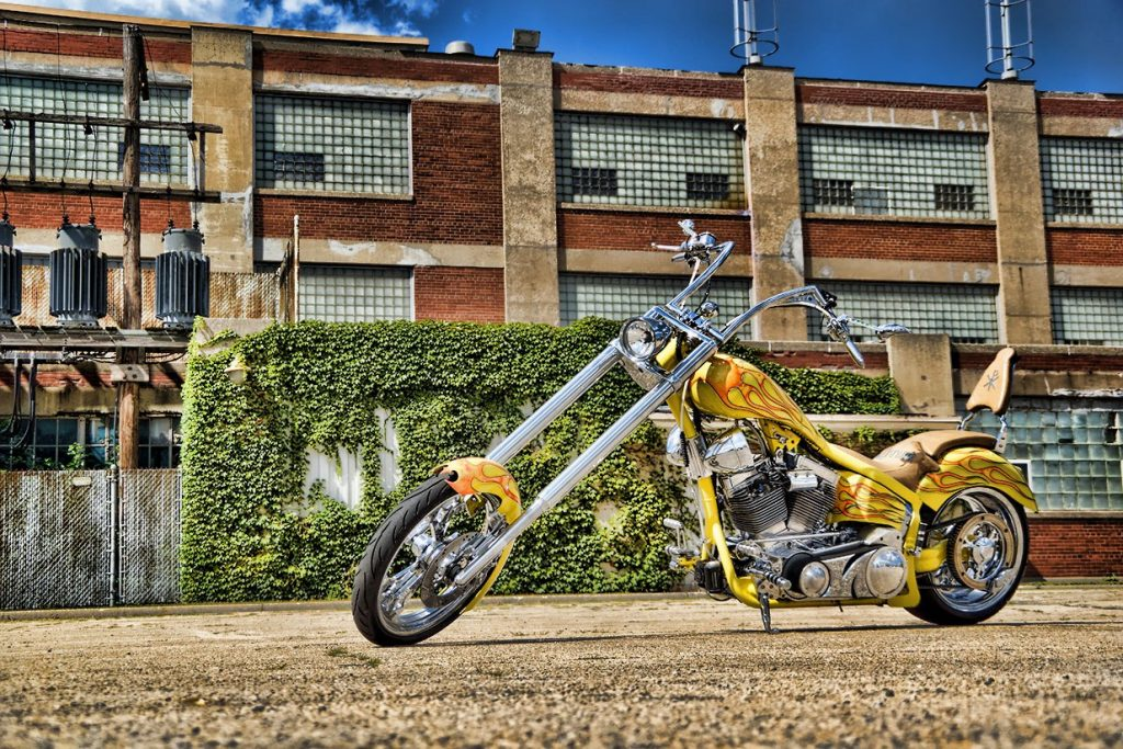 Custom Chopper Bike