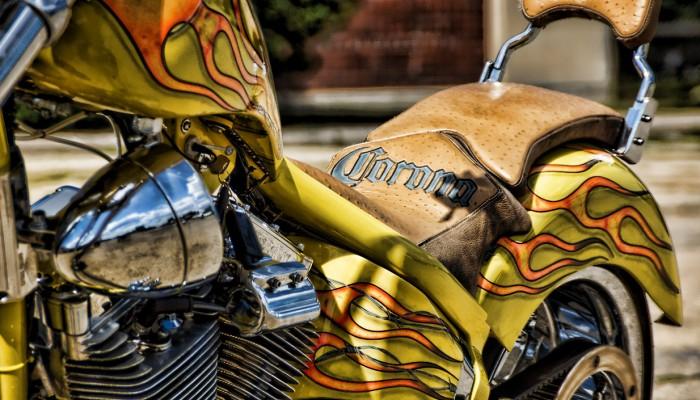 Custom Chopper Corona Seat Leather