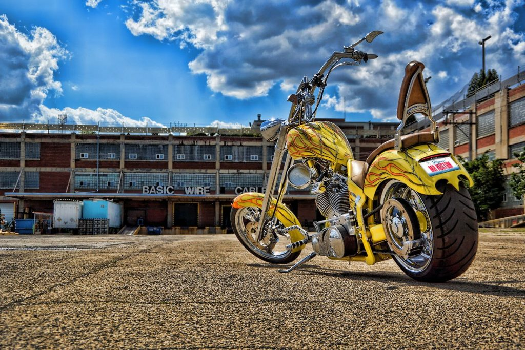 Custom Yellow Orange Chopper