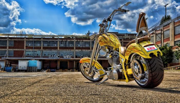 Custom Yellow Orange Chopper