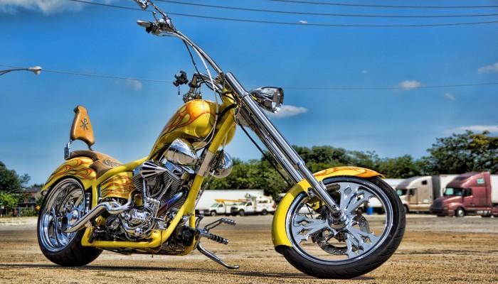 Custom Chopper Motorcycle Spinner Rims