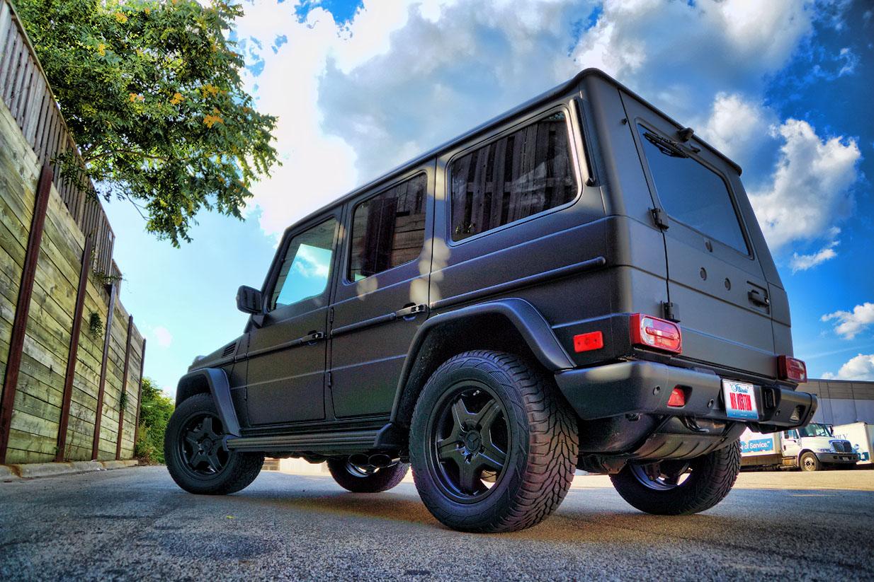 Matte black g wagon mercedes g55 amg mr kustom auto for Mercedes benz matte black g wagon