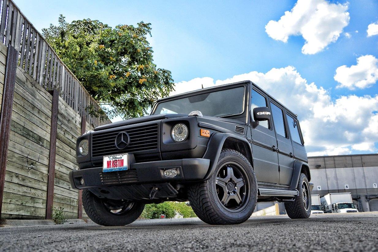 matte black g wagon mercedes g55 amg black powder. Black Bedroom Furniture Sets. Home Design Ideas
