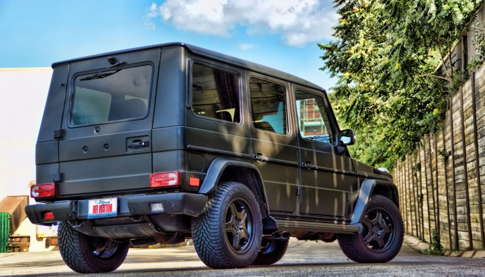 Mercedes G55 Matte Black Wrap