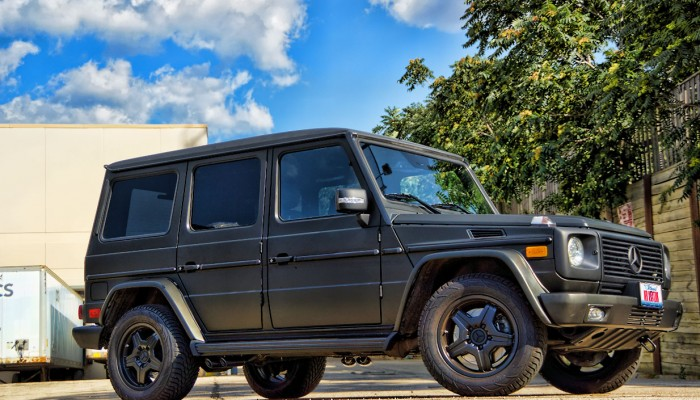 Mercedes G55 Wagon Matte Black Wrap