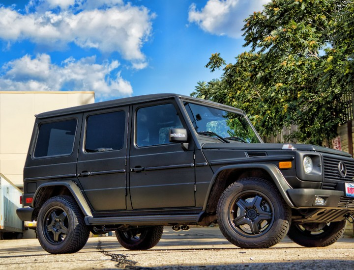 Matte Black G Wagon – Mercedes G55 AMG – Black Powder Coated Rims