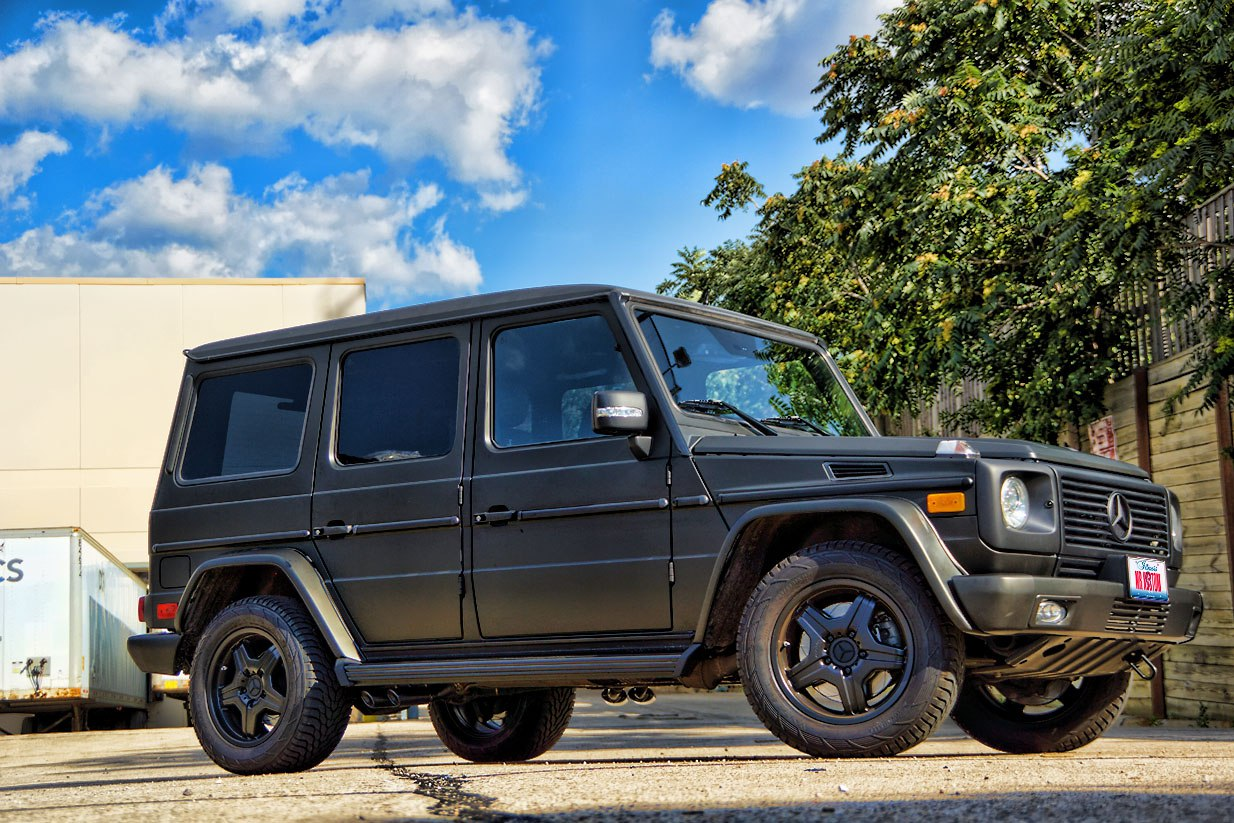 Matte Black G Wagon Mercedes G55 Amg Black Powder