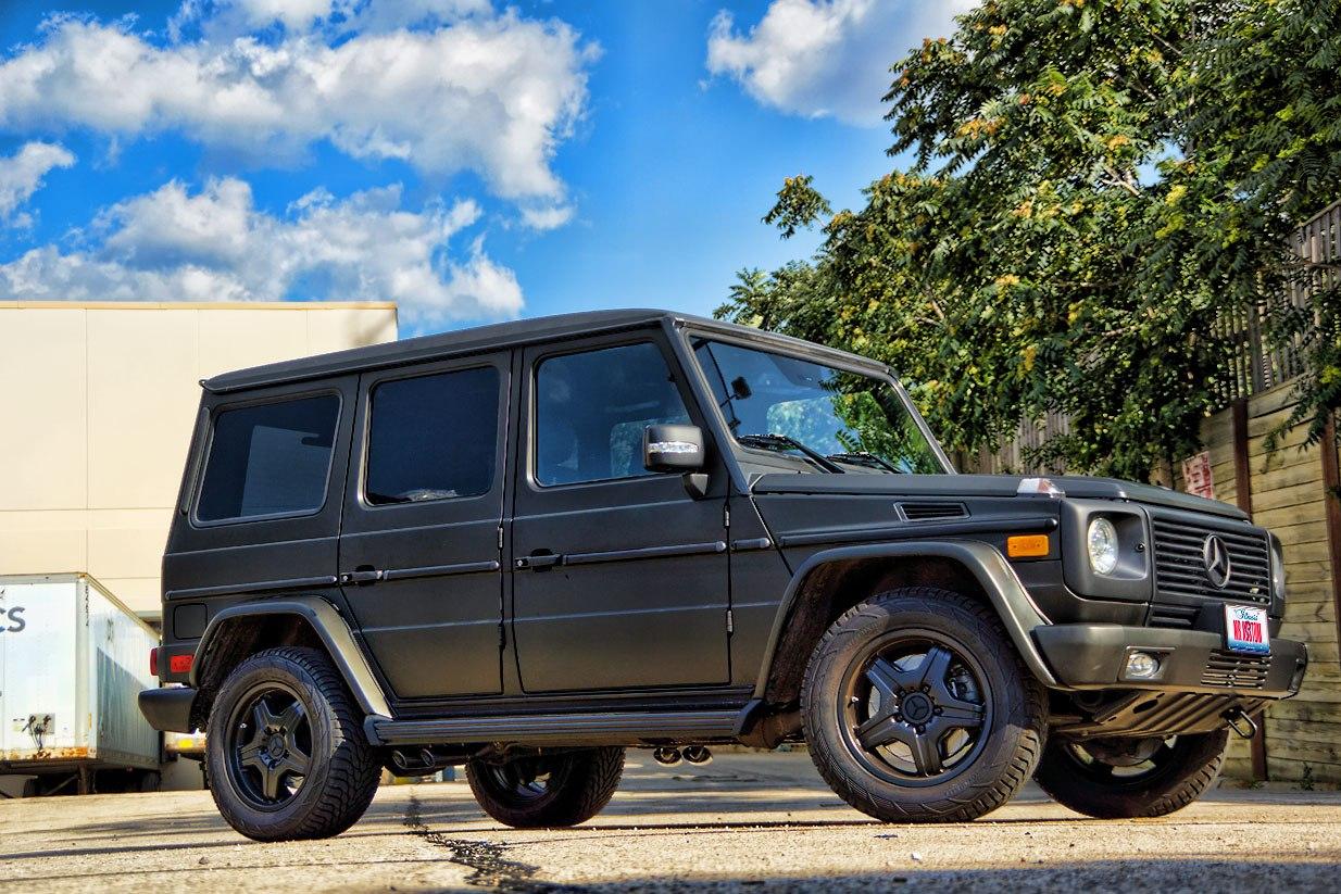 Matte black g wagon mercedes g55 amg black powder for Mercedes benz matte black g wagon