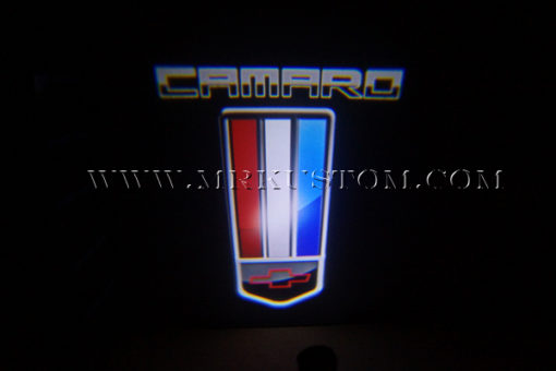 Camaro Flag LED Door Projector Courtesy Puddle Logo Light
