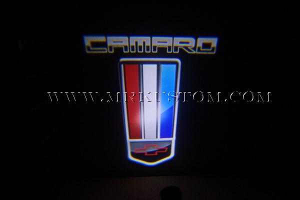 Camaro Flag Led Door Projector Courtesy Puddle Logo Light