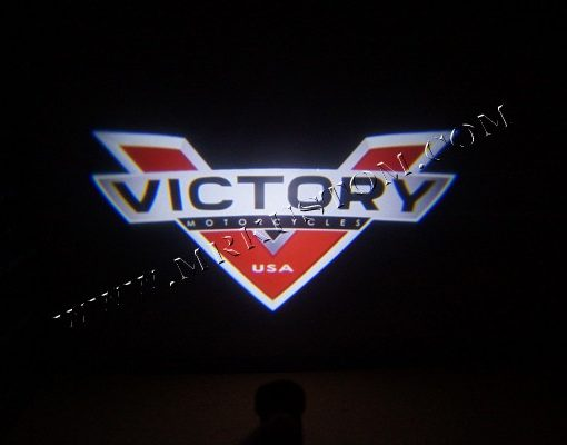 Victory Motorcycle LED Door Projector Courtesy Puddle Logo Light