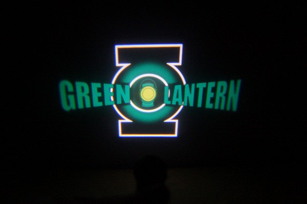 Green Lantern Led Door Projector Courtesy Puddle Logo Light