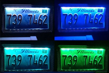 LED License Plate Frames
