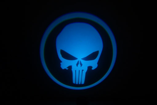 Punisher Skull Blue Door Projector Lights