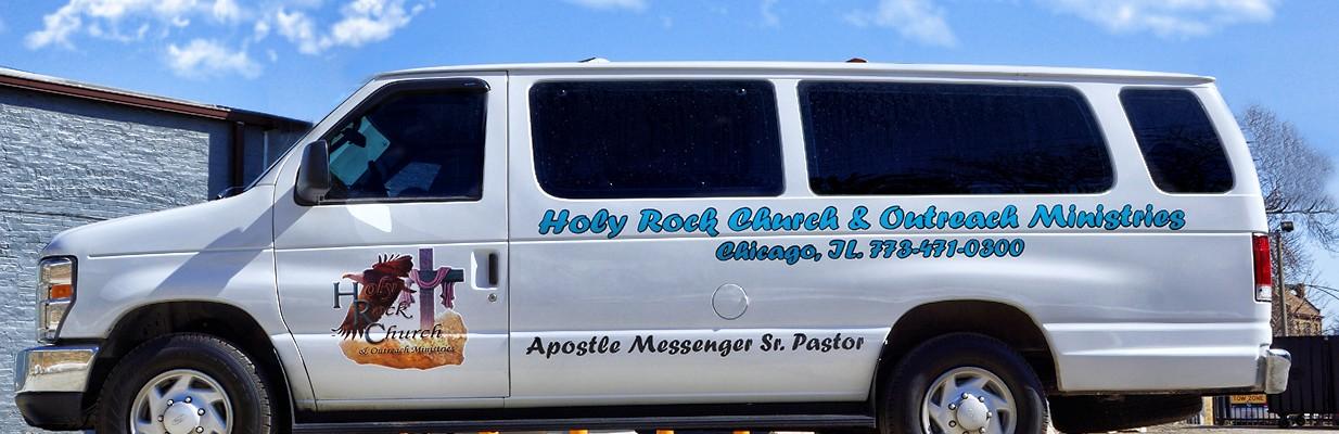 Church Van Graphics   Vinyl Wrap   Van Conversion   Van Running