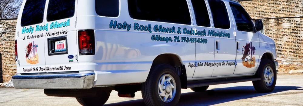 Church Van Graphics Chicago Running Boards