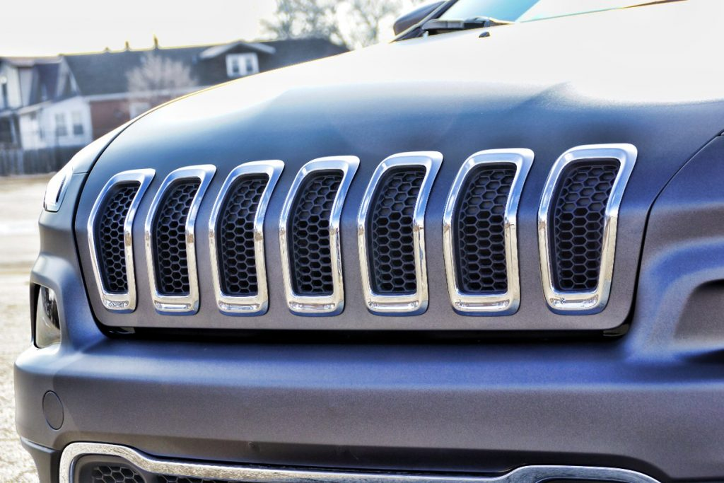 Grand Cherokee Custom Grille Vinyl Matte Gray Wrap