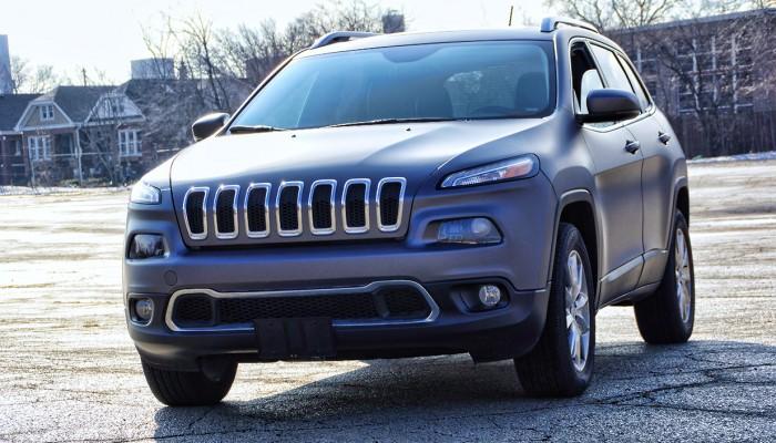 Gray Vinyl Car Wrap Jeep Grand Cherokee