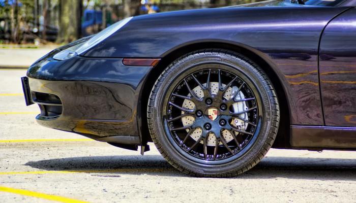 Black Powder Coated Porsche 911 Rims