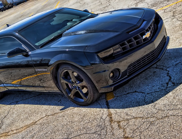 Blacked Out Camaro SS – Smoked Tail Lights and Headlights – Powder Coated Rims