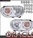 Dodge Challenger Non-Projector Depo Headlights with Oracle Halos
