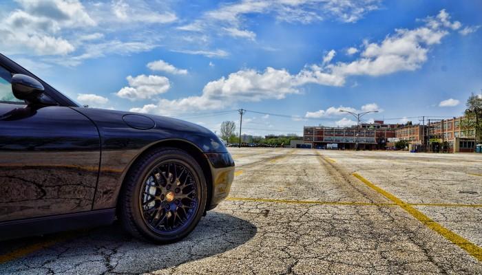 Porsche 911 Black Powder Coated Rim