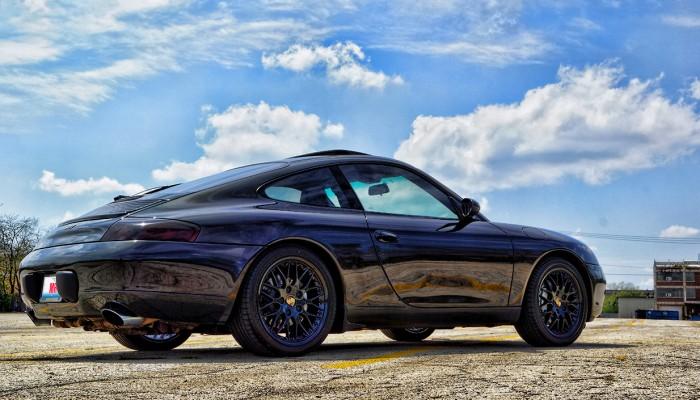 Porsche Carrera 996 911 Black Powder Coated Rims