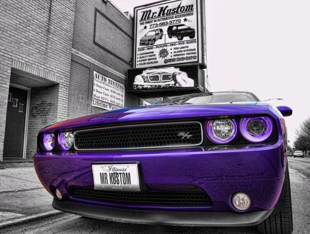 Purple Halo Headlights Chicago