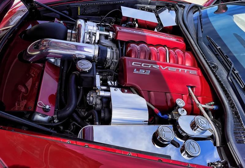 Chrome Accent Pieces Corvette Engine