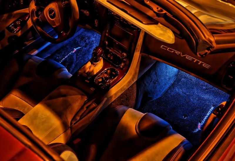 Corvette Blue Foot Well LED Lights