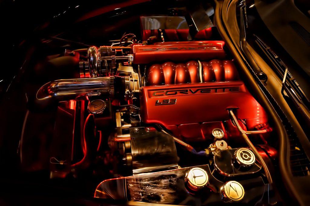 Corvette Custom Engine Bay Painted and Chrome