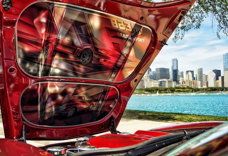 Corvette Grand Sport Under Hood Design