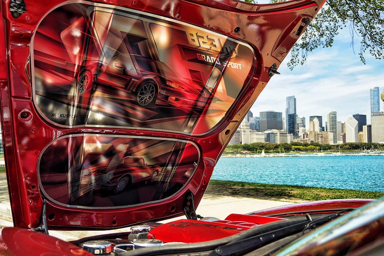 Custom Corvette Grand Sport Completely Overhauled HP - Custom under car hood