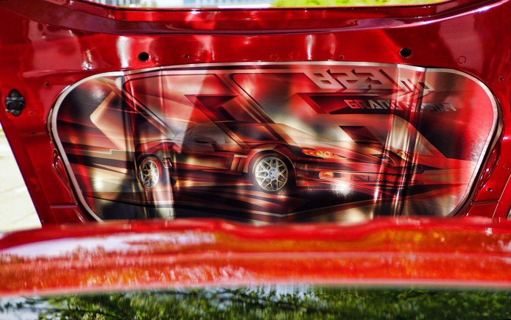 Corvette Grand Sport Under Hood Graphic