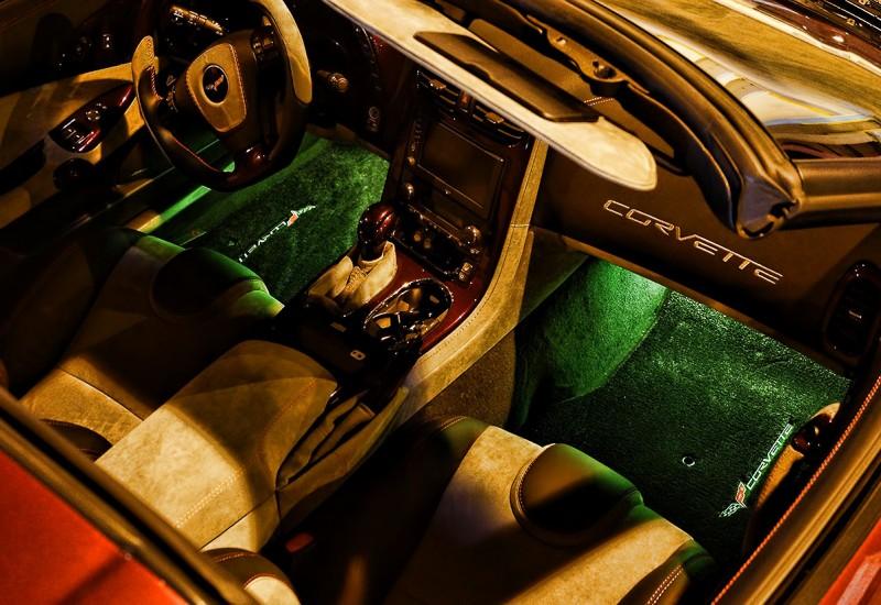 Corvette Green Foot Well LED Lights