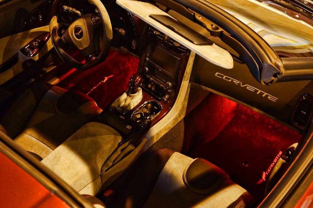 Corvette Red Foot Well LED Lights