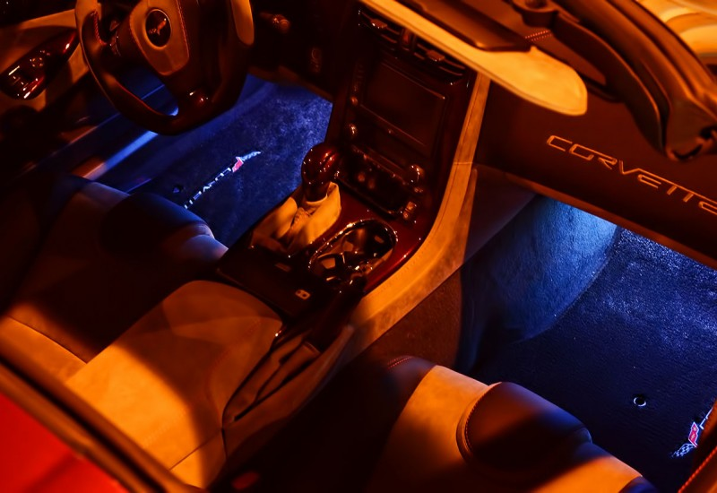 Corvette White Foot Well LED Lights