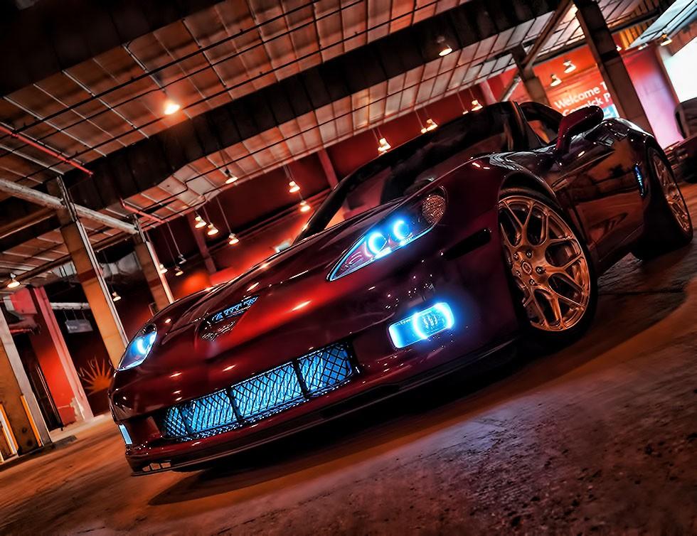 Corvette White Halo Headlights