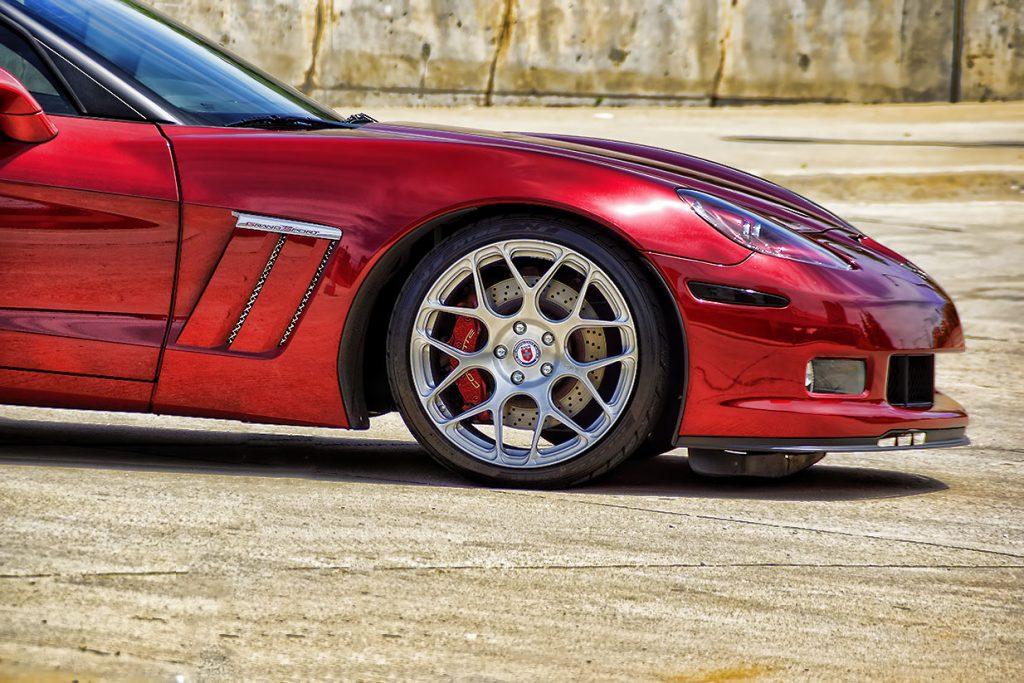 Custom HRE Rims Corvette