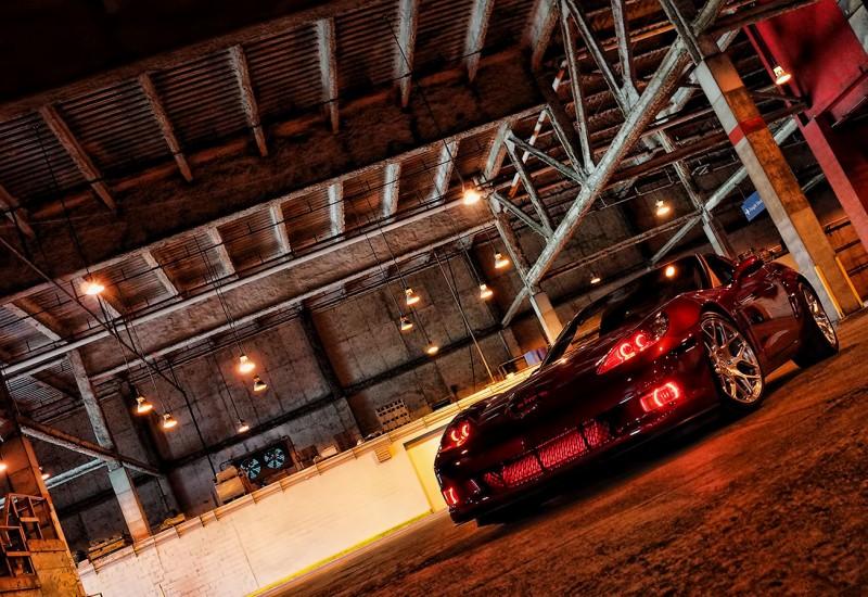 Custom Red Halo Headlights Corvette