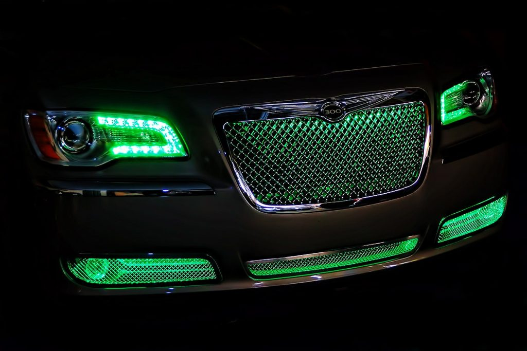 Green Chrysler 300 Oracle Grille Lighting