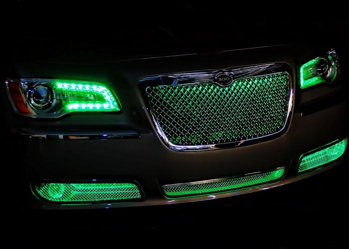 Green Chrysler 300 Oracle Grille Lighting