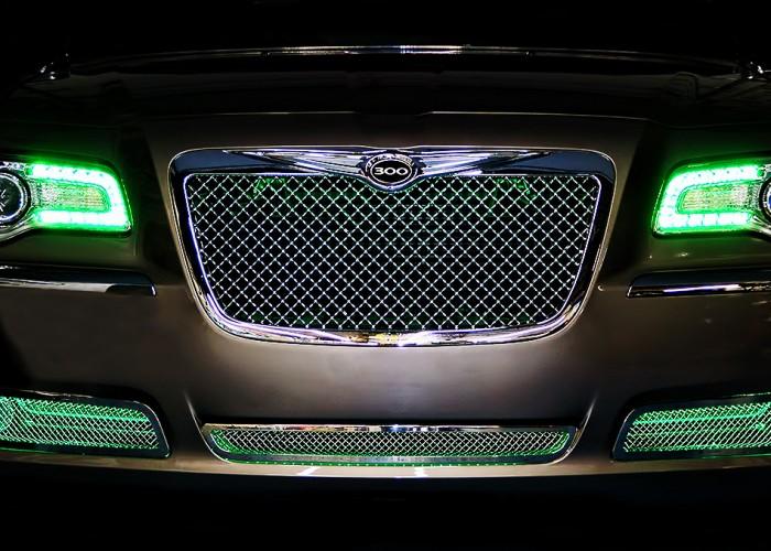 Green Chrysler 300 Oracle Halo Headlights