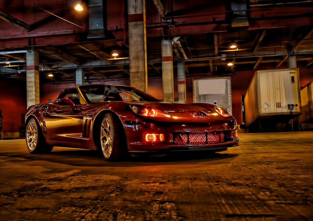 Oracle Red Halo Lights Corvette