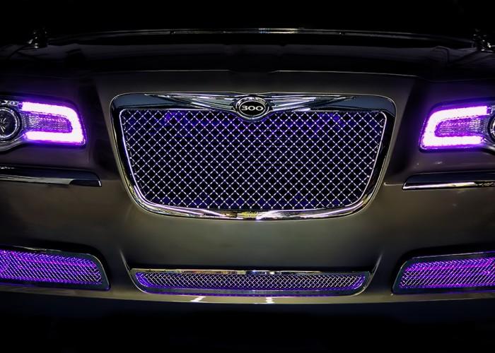 Purple Chrysler 300 Oracle Halo Headlights